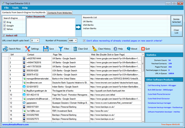 Web Lead Scraping Software Searchengine Screenshot