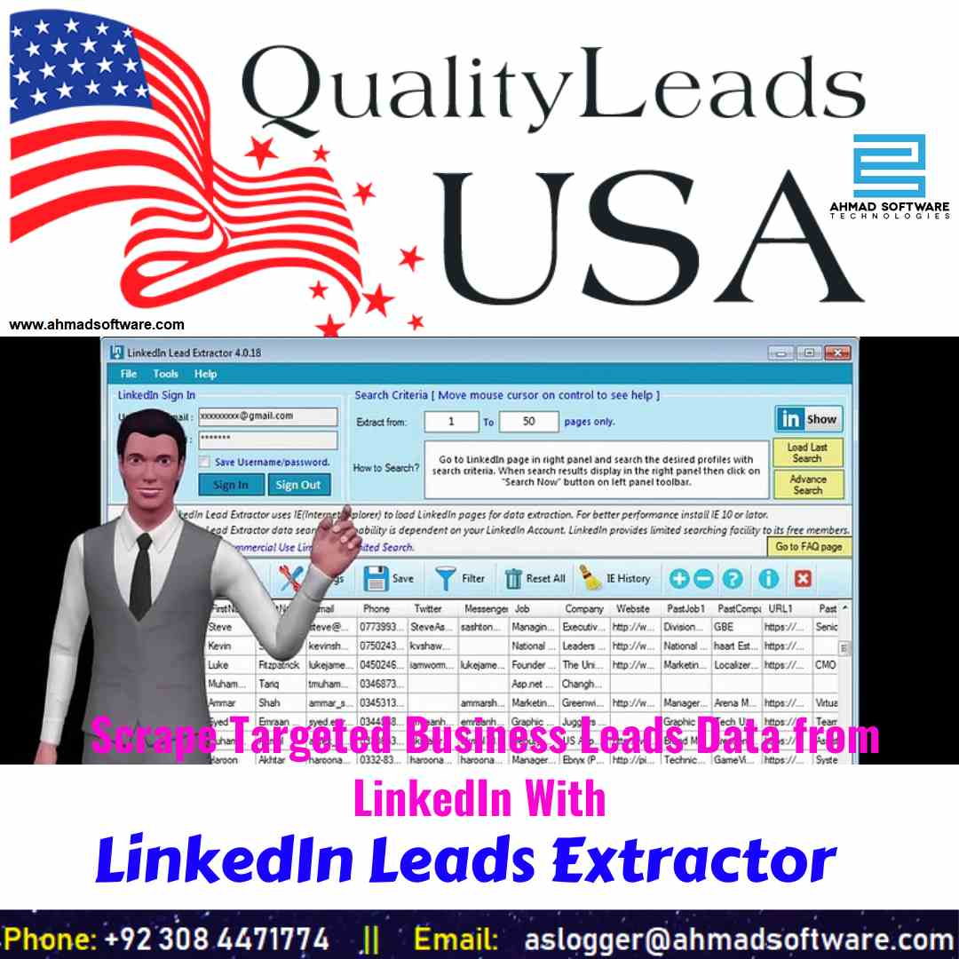 Boost sales lead for business in the USA LinkedIn Data Extractor