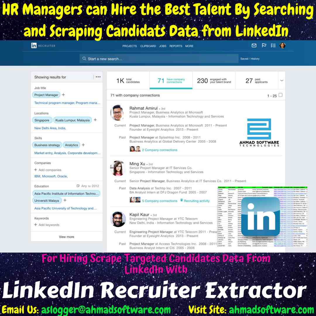 Collect Candidates Data From LinkedIn In Minutes with LinkedIn Scraper