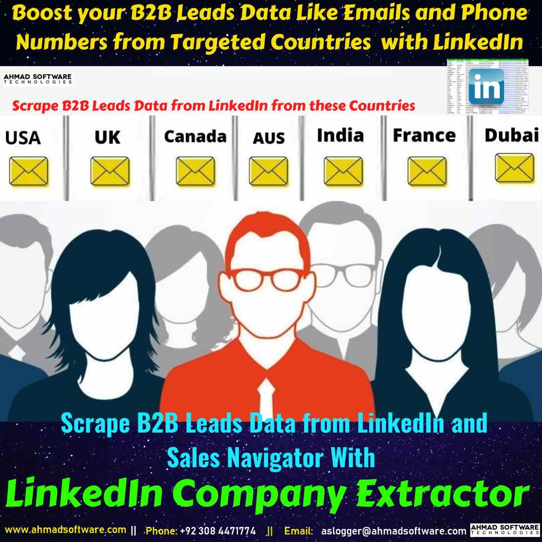 LinkedIn Scraper - Collect USA leads data like emails from LinkedIn