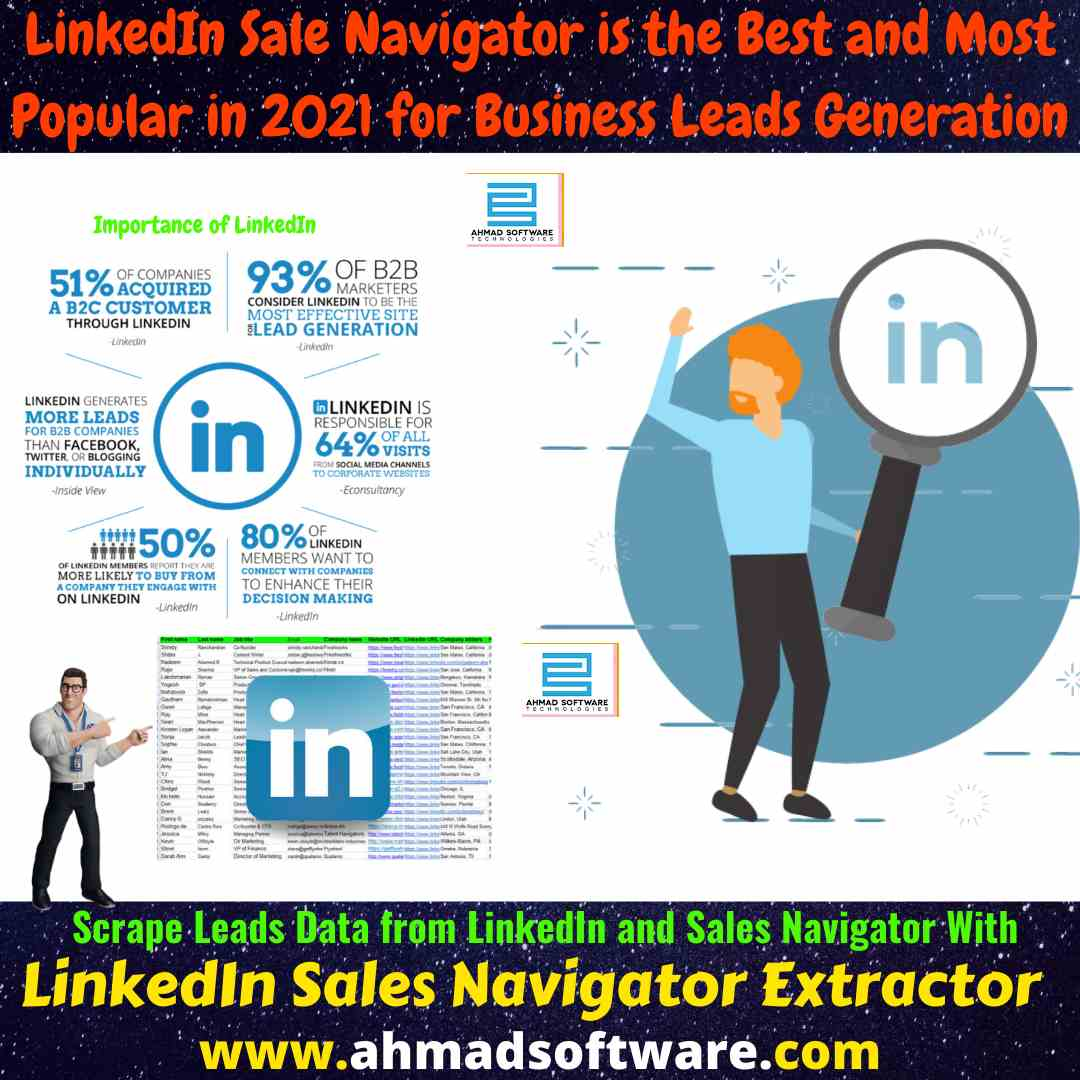 Collect leads data from Sale Navigator with LinkedIn Scraper