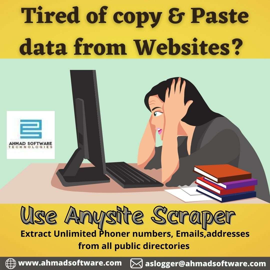 Copy/Paste not working? Use Web Scraper software for Marketing