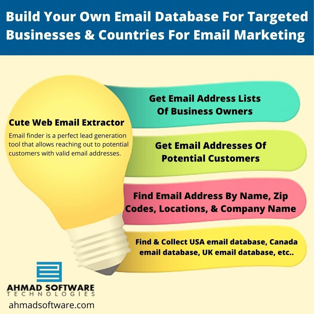 Build Your Own Email Database For Targeted Businesses & Countries