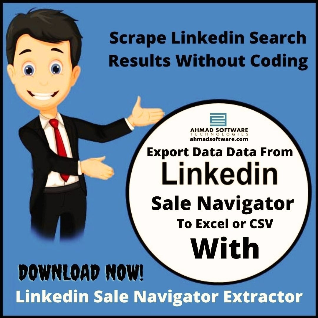 Extract & Export Linkedin Sale Navigator Search Results To Excel