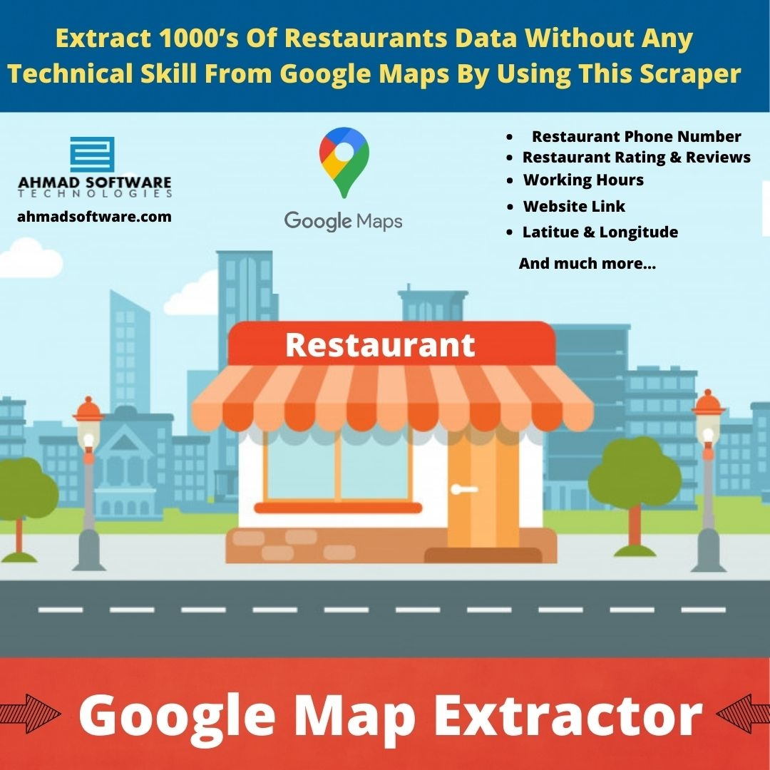 Extract 1000's Of Restaurants Data Without Any Skill From Google Maps