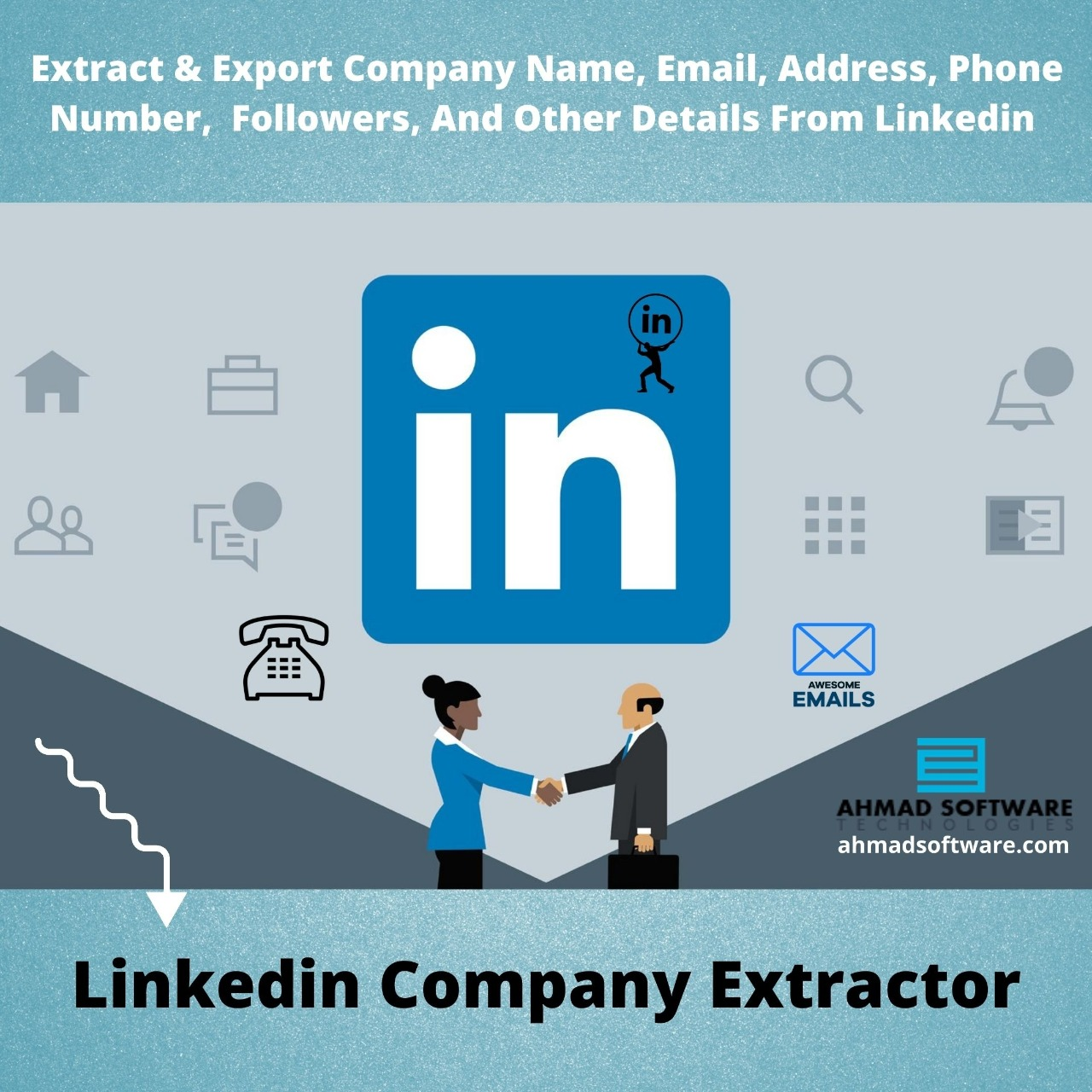 Extract Business Name, Email, Phone Number, And Other Business Details From Linkedin
