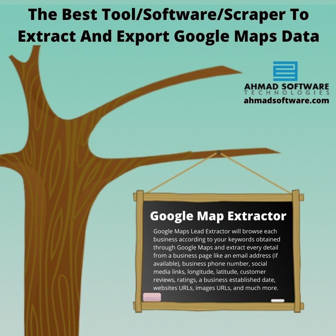 The Best Tool/Software/Scraper To Extract & Export Google Maps Data
