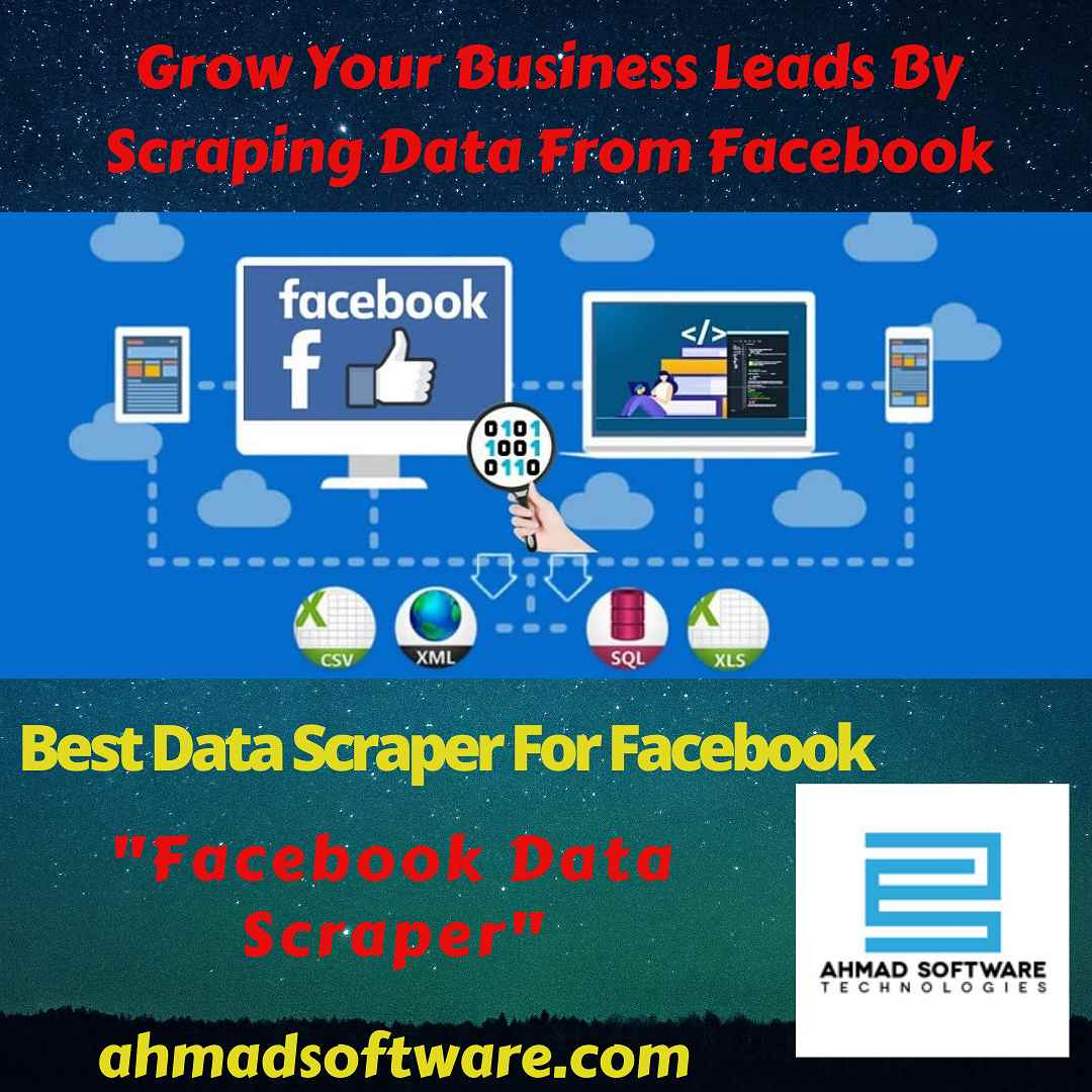 Facebook data scraper scrape data from multiple profiles and FB pages.