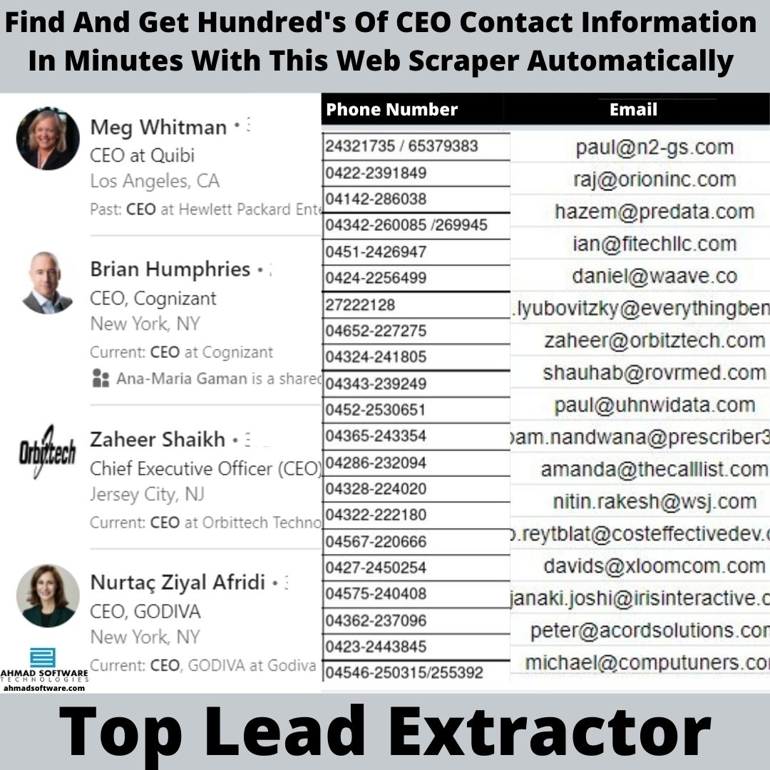 Find And Get Hundred's CEO Contact Information In Minutes With Phone Scraper