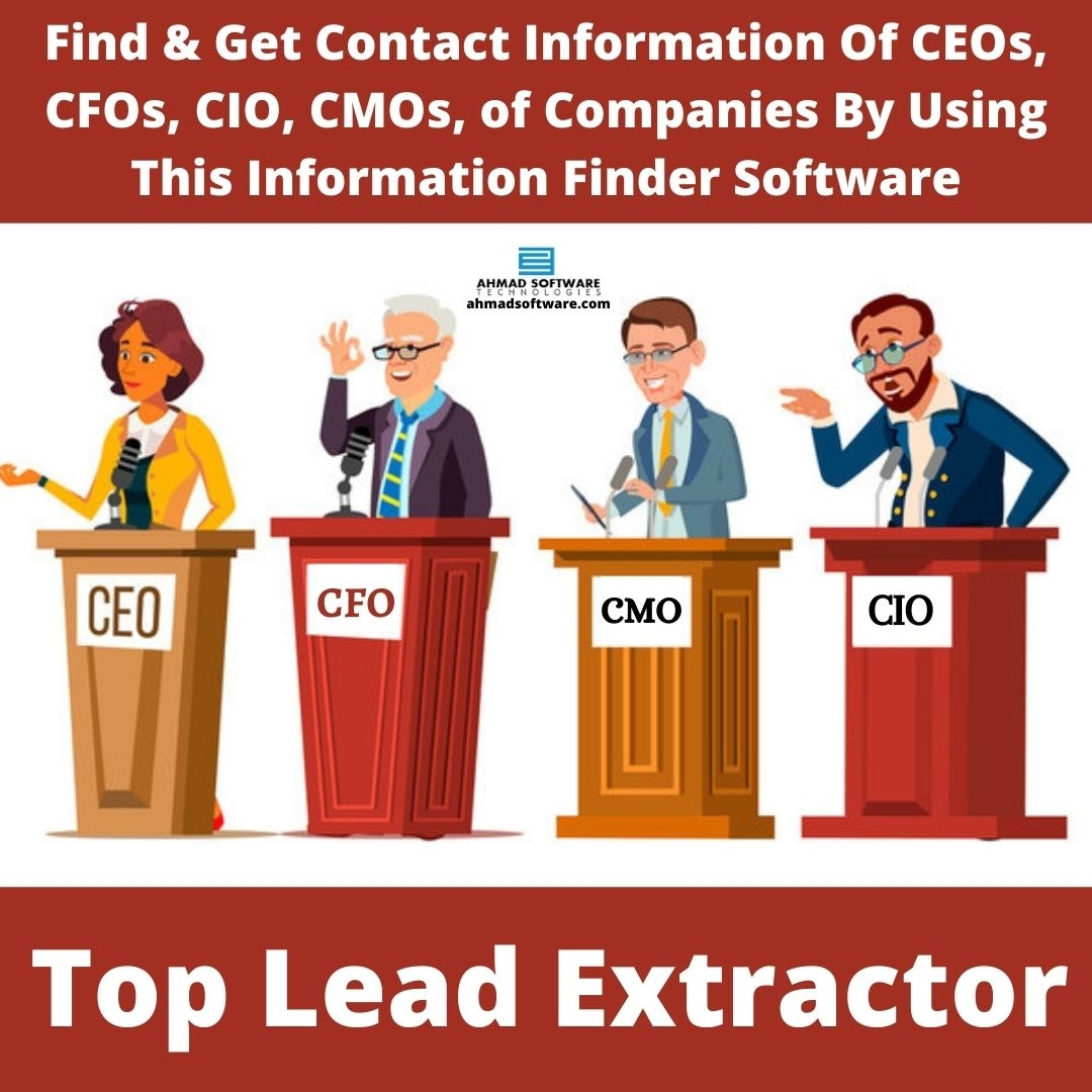 Find & Get Emails And Phone Numbers Of CEOs Of Companies In Minutes
