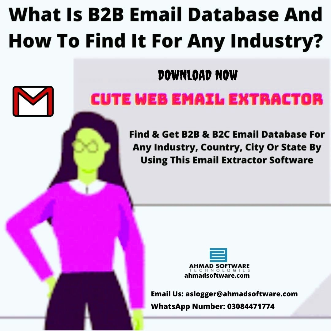 Find And Get B2B Email Database For Marketing With Cute Web Email Scraper