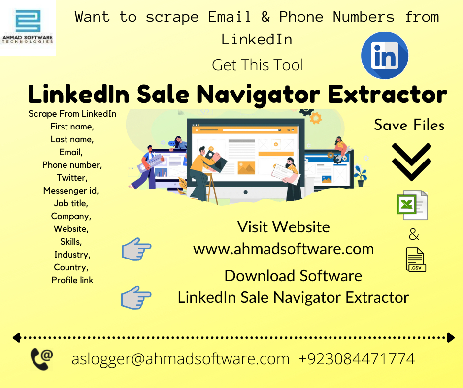 Extract & Get B2B Leads From LinkedIn With LinkedIn Scraper On Daily Basis