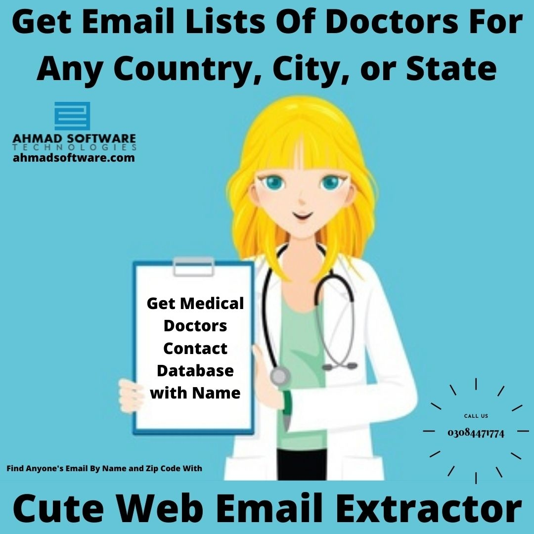 Get Email Lists Of Doctors For Country, City, or State