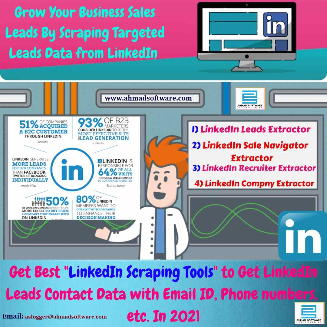 LinkedIn Scraping Tools - Get leads data from LinkedIn like Emails