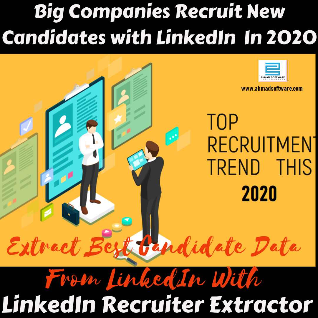 How does a big company recruit new candidates/employees in 2020