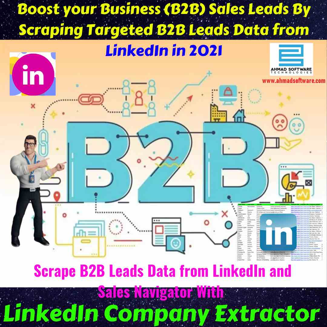 LinkedIn Automation Tool for B2B Leads Data Scraping from Linkedin