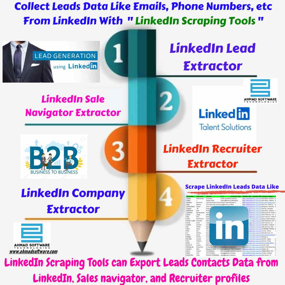 LinkedIn Scraping tools - LinkedIn Email Extractor - Leads Generation