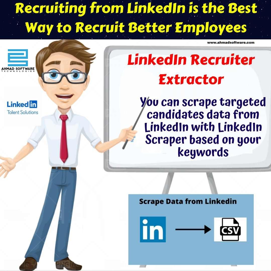 LinkedIn Scraper - You can Recruit Better Employee from LinkedIn