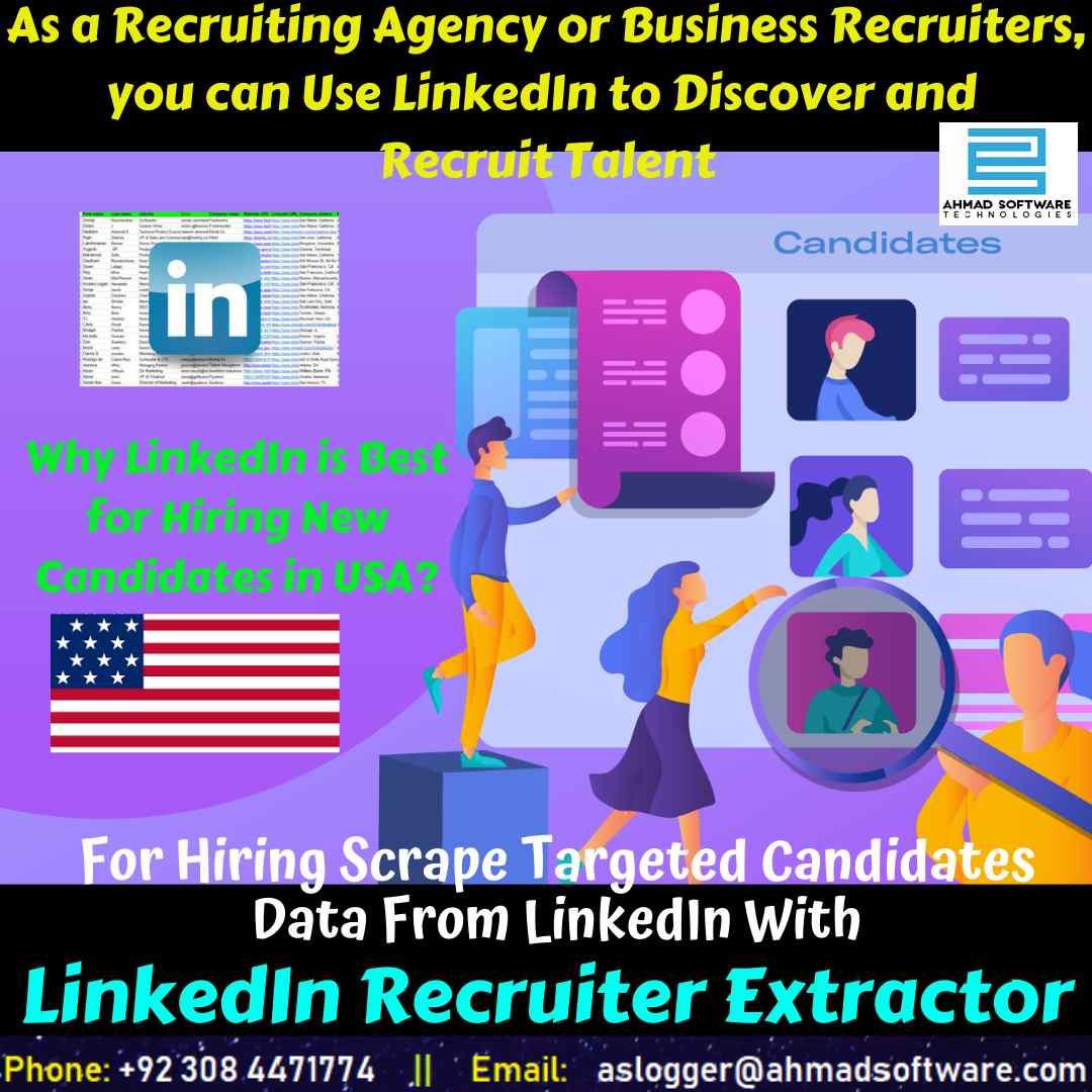 Recruiting agencies can hire talent from LinkedIn - LinkedIn Scraper