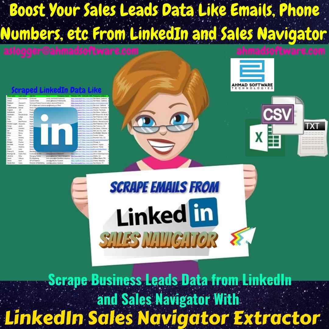 Sales Navigator Scraper | Linkedin Email Extractor | Linkedin