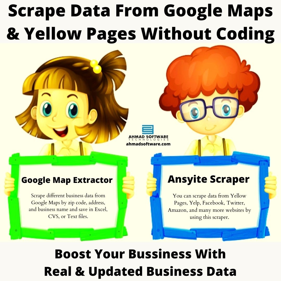 Scrape Data From Google Maps & Yellow Pages Without Coding