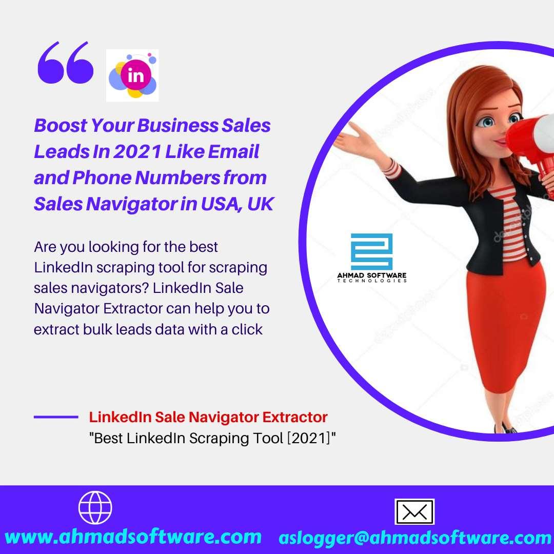 LinkedIn Scraping Tool - Scrape Leads Data from Sales Navigator