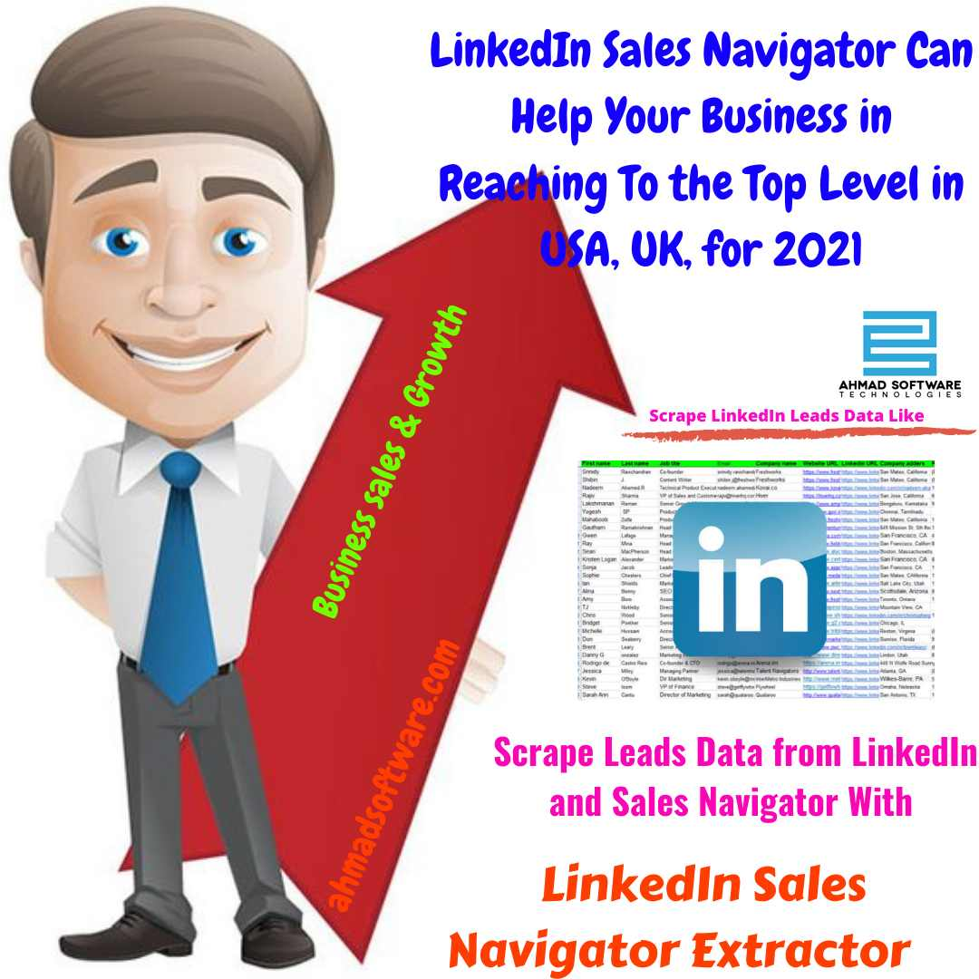 LinkedIn Scraper - Scrape leads data from LinkedIn sales navigator