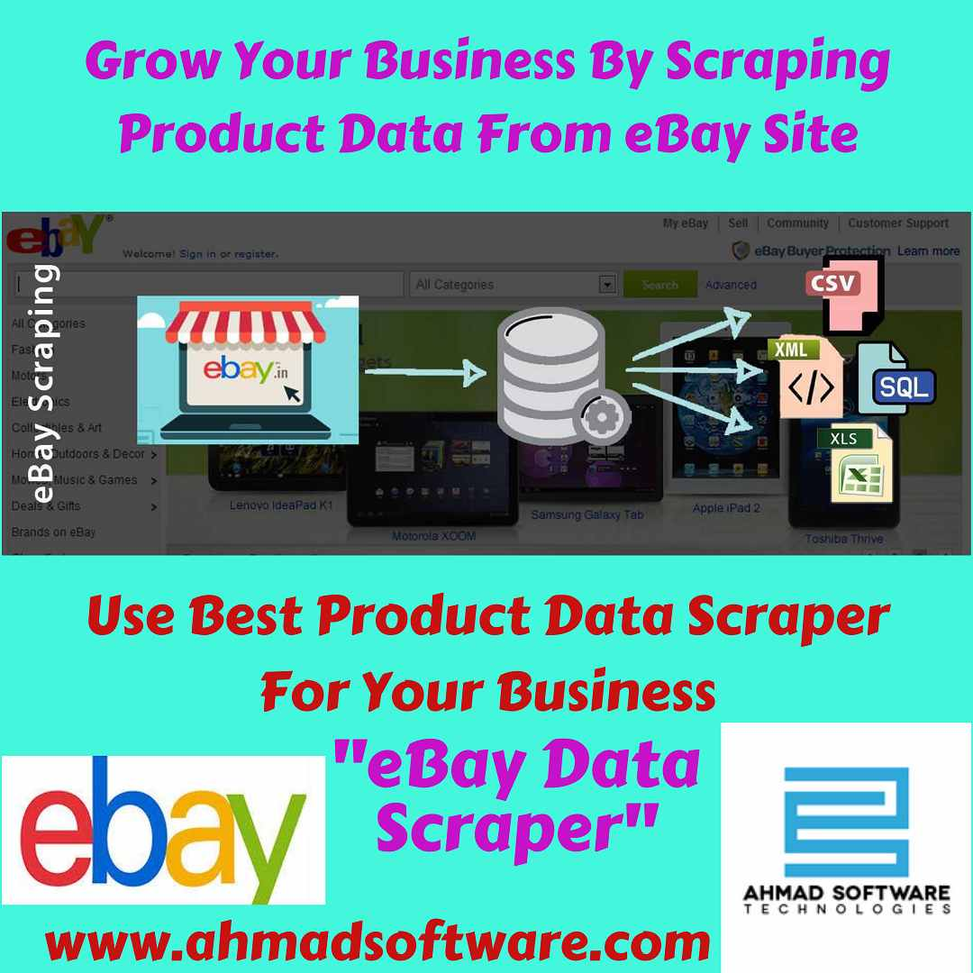 Scrape product data from eBay site by using eBay Data Scraper
