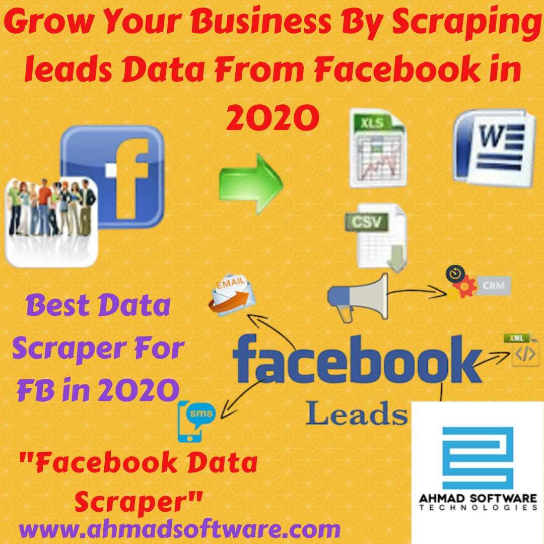 Scrape profiles and FB pages data using Facebook Data Scraper