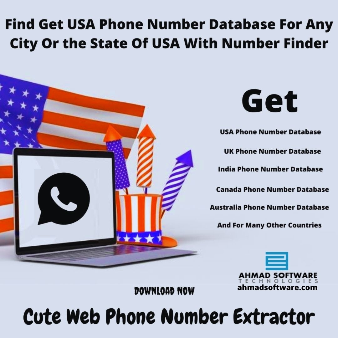 Get USA Phone Number Database For Any City Or State Of USA With Phone Scraper