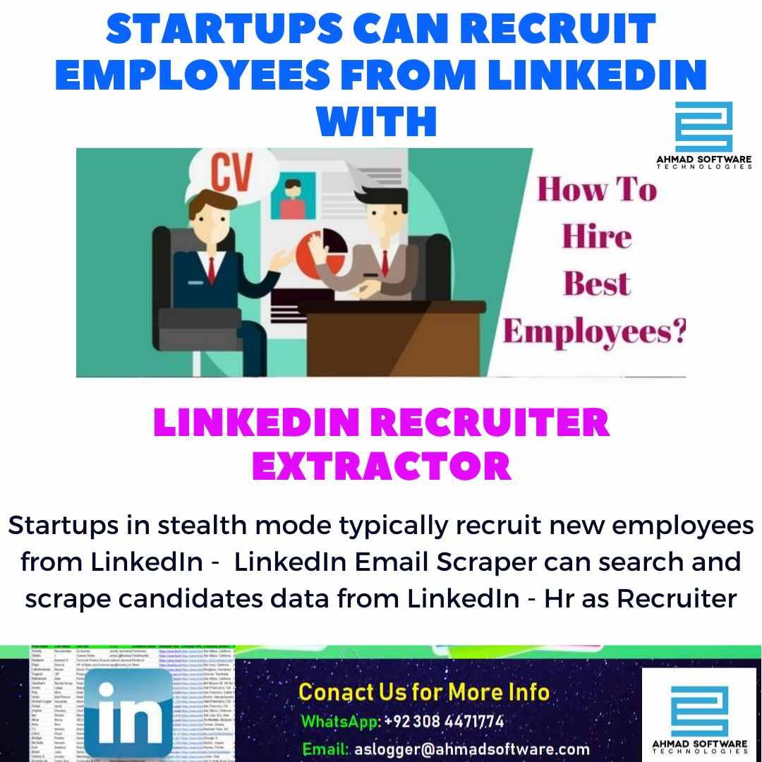 Startups can recruit employees from LinkedIn - LinkedIn Scraper