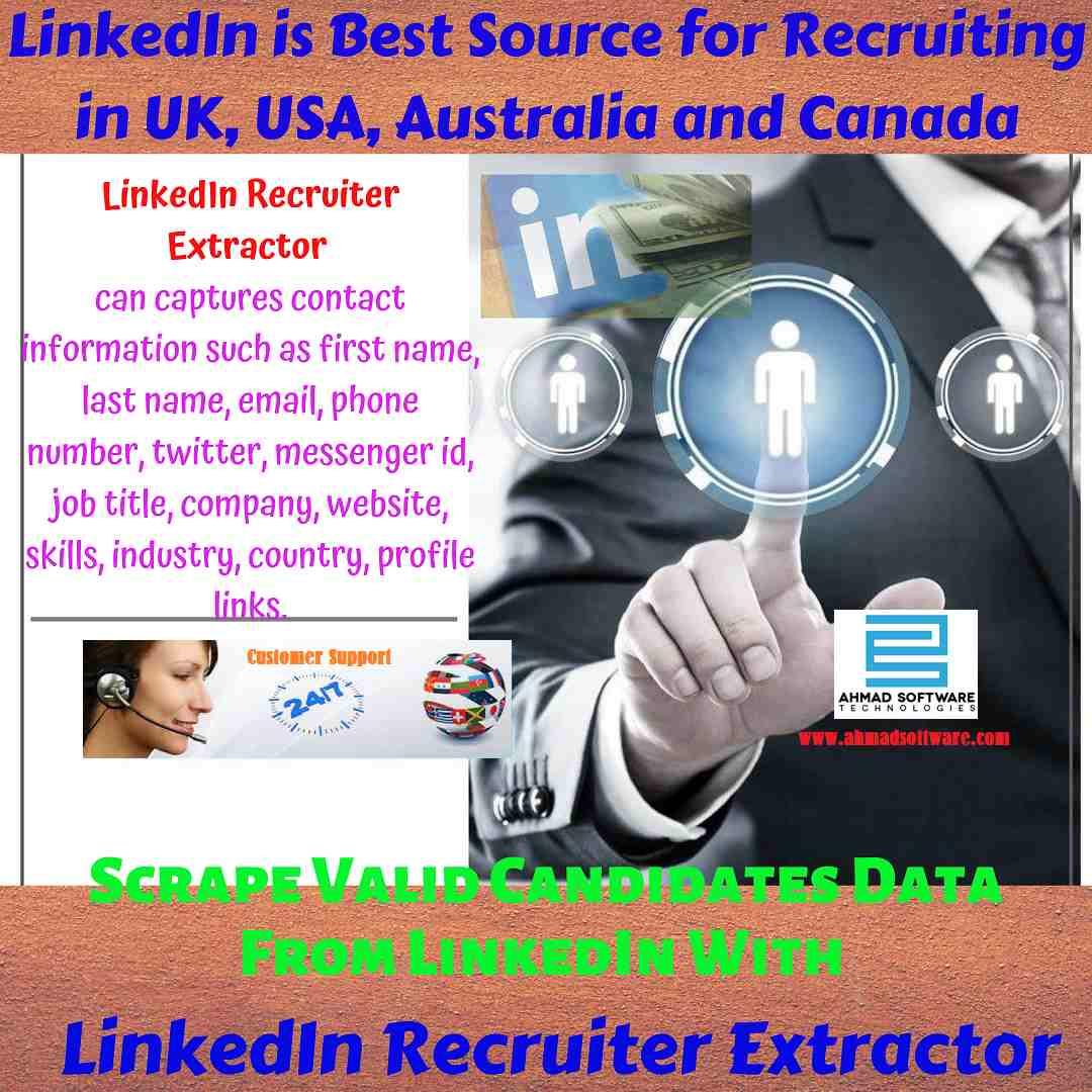 LinkedIn is best source for recruiting in UK, USA - LinkedIn Scraper