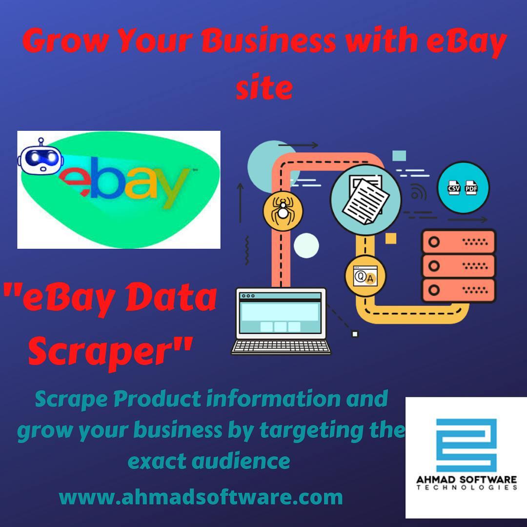 EBay data scraper helps in product hunting on e-commerce sites like eBay.
