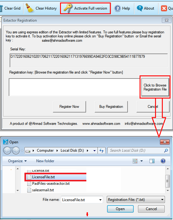 Email Extractor Register Software