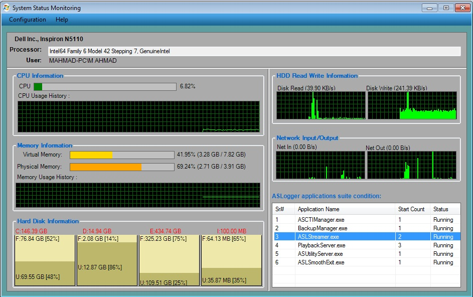 ASLogger Backup System Screenshot